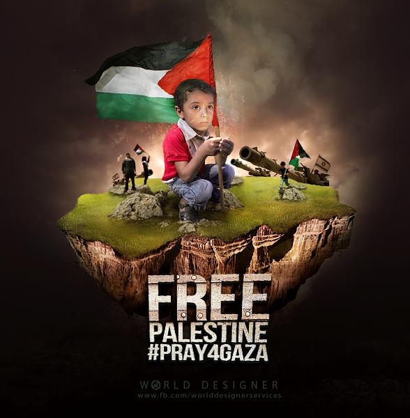 Poster Free Palestine by Izuan Bakar